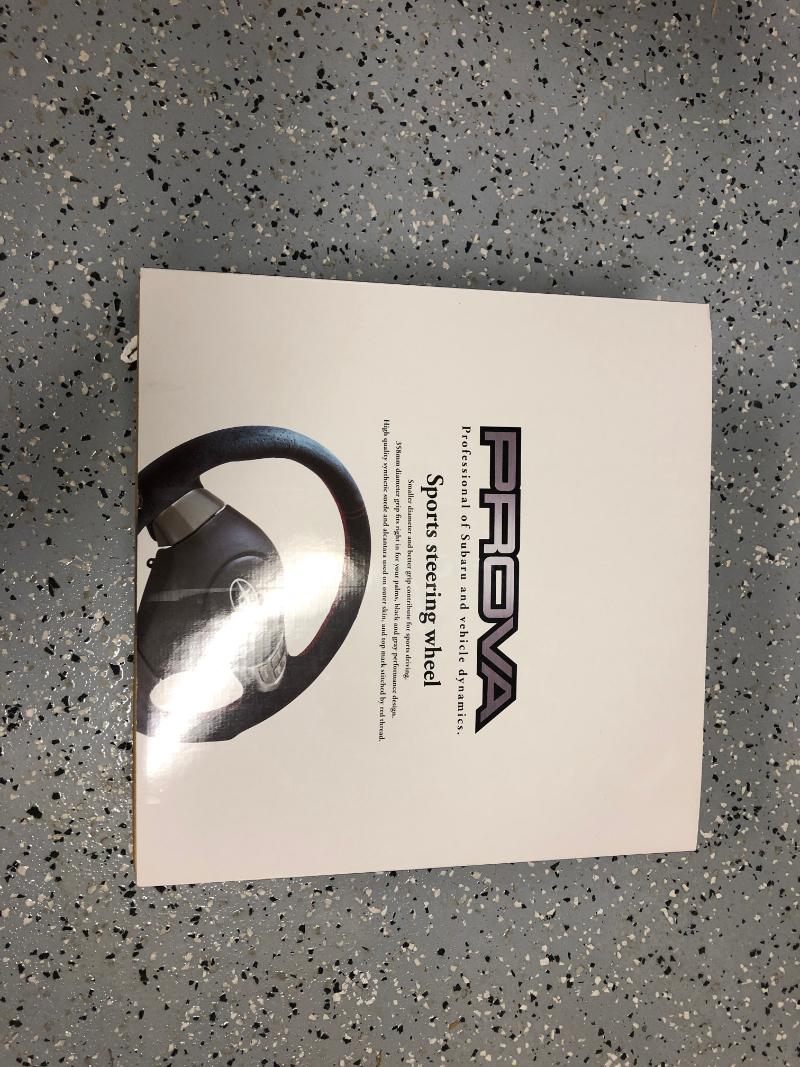 NIB Prova D-Shaped Alcantara Steering Wheel-provawheel-jpg