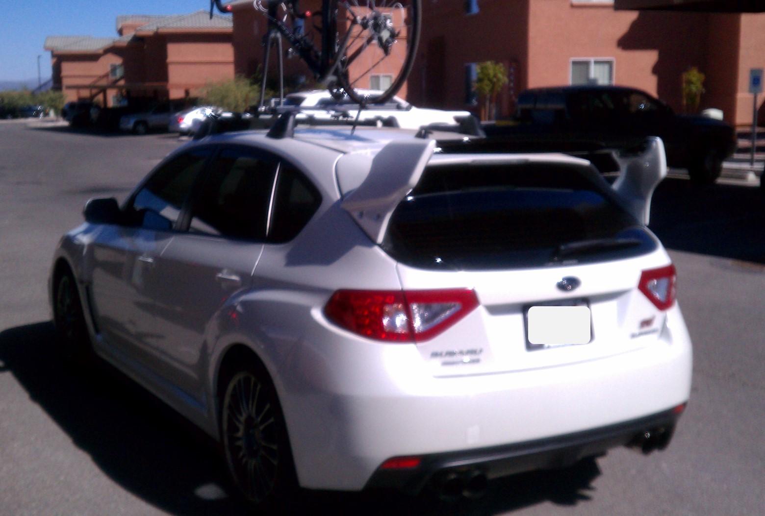 2012 Subaru STi, 41,xxx miles, Garage Baby, One Owner, Asking .9k-rear-w_wing-bike-rack-jpg