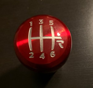 Raceseng Rondure Translucent Shift Knob - 2015+ WRX / 2015+ STI - Red Engraved-shift2-png