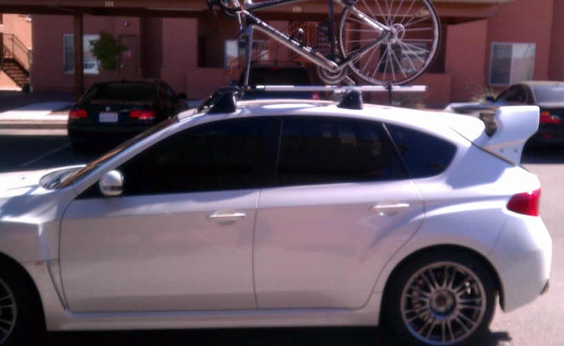 2012 Subaru STi, 41,xxx miles, Garage Baby, One Owner, Asking .9k-side-w_wing-bike-rack-jpg
